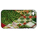Christmas Quilt Background Apple iPhone 4/4S Hardshell Case (PC+Silicone) View1