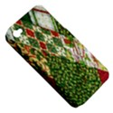 Christmas Quilt Background Apple iPhone 4/4S Hardshell Case (PC+Silicone) View5