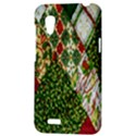 Christmas Quilt Background HTC Desire VT (T328T) Hardshell Case View3