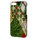 Christmas Quilt Background Apple iPhone 5 Hardshell Case with Stand View3