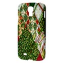 Christmas Quilt Background Samsung Galaxy S4 I9500/I9505 Hardshell Case View3