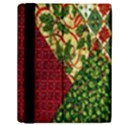 Christmas Quilt Background Samsung Galaxy Tab 10.1  P7500 Flip Case View2