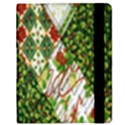 Christmas Quilt Background Samsung Galaxy Tab 8.9  P7300 Flip Case View2