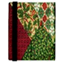 Christmas Quilt Background Samsung Galaxy Tab 8.9  P7300 Flip Case View3