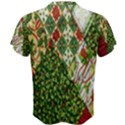 Christmas Quilt Background Men s Cotton Tee View2