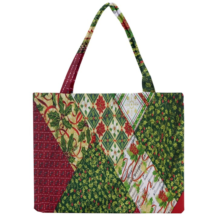 Christmas Quilt Background Mini Tote Bag