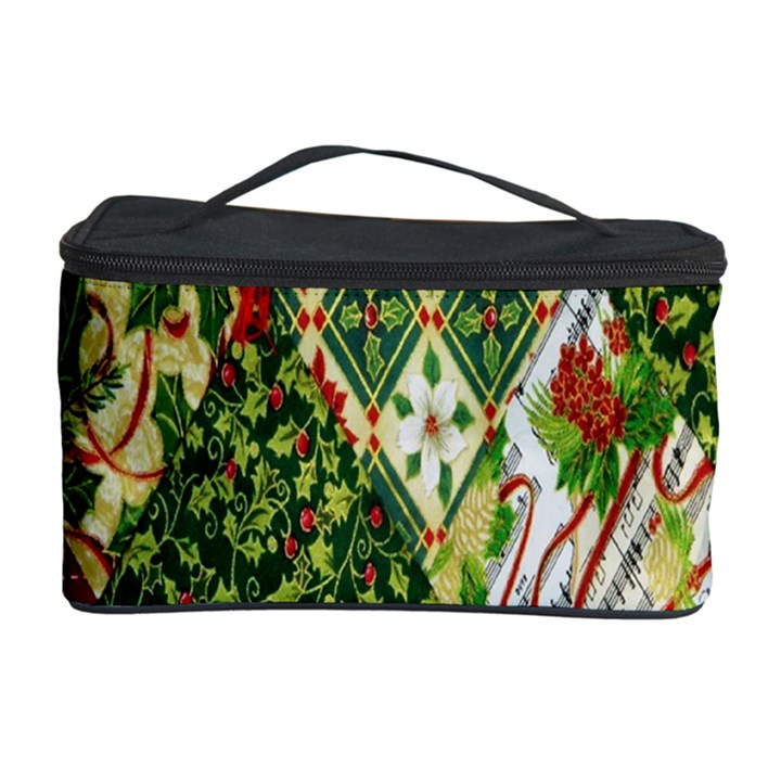Christmas Quilt Background Cosmetic Storage Case
