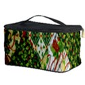 Christmas Quilt Background Cosmetic Storage Case View3