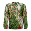 Christmas Quilt Background Men s Long Sleeve Tee View2