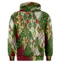 Christmas Quilt Background Men s Pullover Hoodie View1