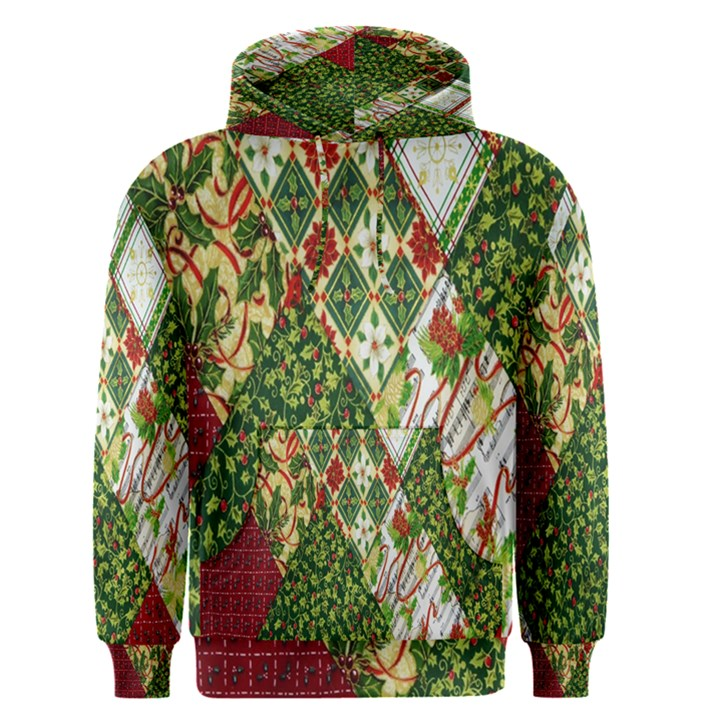 Christmas Quilt Background Men s Pullover Hoodie