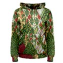 Christmas Quilt Background Women s Pullover Hoodie View1