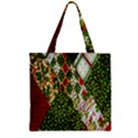 Christmas Quilt Background Zipper Grocery Tote Bag View1