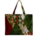 Christmas Quilt Background Zipper Mini Tote Bag View2