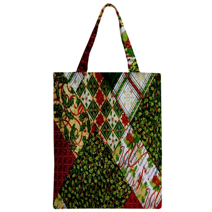 Christmas Quilt Background Zipper Classic Tote Bag