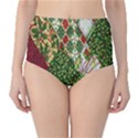 Christmas Quilt Background High-Waist Bikini Bottoms View1