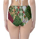 Christmas Quilt Background High-Waist Bikini Bottoms View2