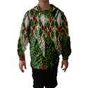 Christmas Quilt Background Hooded Wind Breaker (Kids) View1