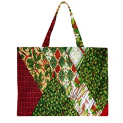 Christmas Quilt Background Large Tote Bag