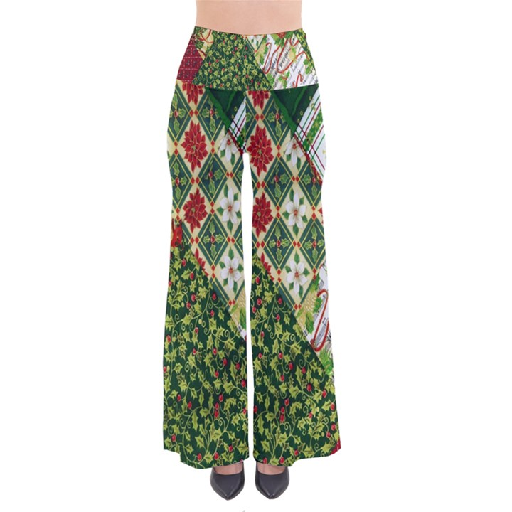 Christmas Quilt Background Pants