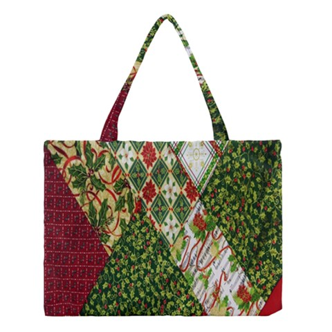 Christmas Quilt Background Medium Tote Bag