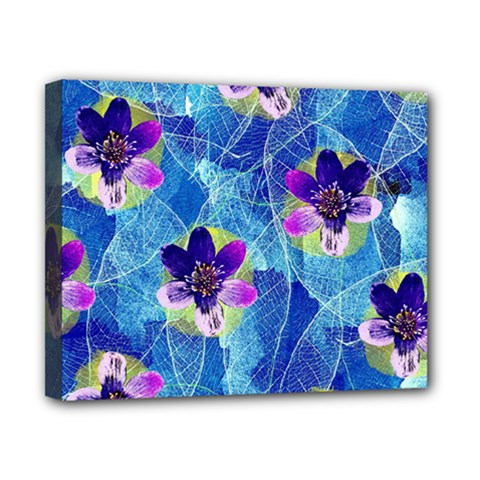 Purple Flowers Canvas 10  X 8