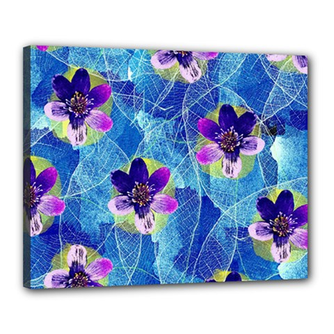 Purple Flowers Canvas 20  X 16