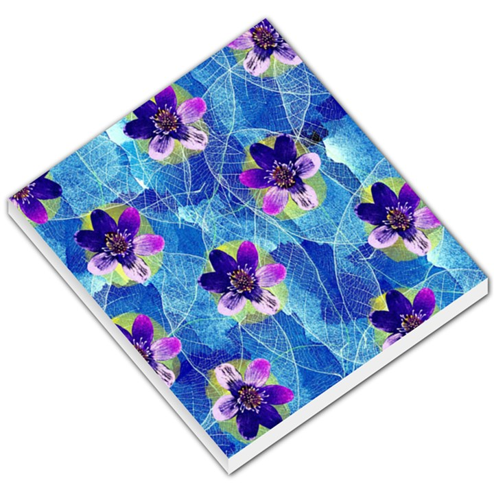 Purple Flowers Small Memo Pads
