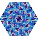 Purple Flowers Mini Folding Umbrellas View1