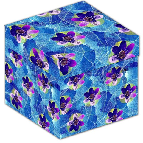Purple Flowers Storage Stool 12