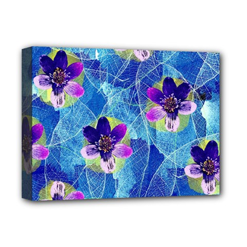 Purple Flowers Deluxe Canvas 16  X 12