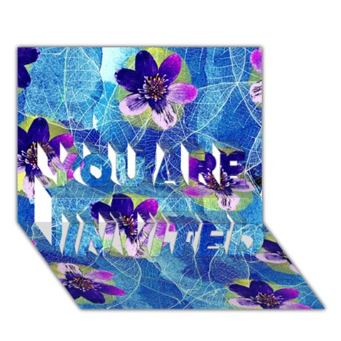 Purple Flowers YOU ARE INVITED 3D Greeting Card (7x5)
