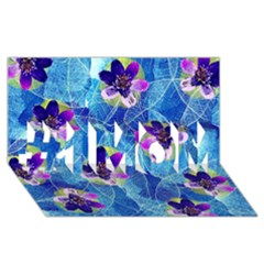 Purple Flowers #1 Mom 3d Greeting Cards (8x4)
