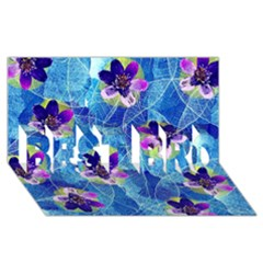Purple Flowers BEST BRO 3D Greeting Card (8x4)
