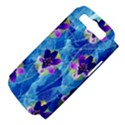 Purple Flowers Samsung Galaxy S III Hardshell Case (PC+Silicone) View4