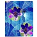 Purple Flowers Apple iPad 2 Flip Case View1