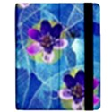Purple Flowers Apple iPad 3/4 Flip Case View2