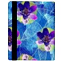 Purple Flowers Apple iPad 3/4 Flip Case View3