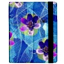 Purple Flowers Apple iPad Mini Flip Case View2