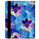 Purple Flowers Apple iPad Mini Flip Case View3