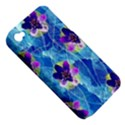 Purple Flowers Apple iPhone 4/4S Hardshell Case (PC+Silicone) View5