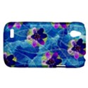 Purple Flowers HTC Desire V (T328W) Hardshell Case View1
