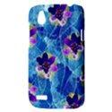 Purple Flowers HTC Desire V (T328W) Hardshell Case View3