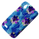 Purple Flowers HTC Desire V (T328W) Hardshell Case View4