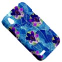 Purple Flowers HTC Desire V (T328W) Hardshell Case View5