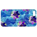 Purple Flowers Apple iPhone 5 Hardshell Case with Stand View1