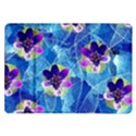 Purple Flowers Samsung Galaxy Tab 10.1  P7500 Flip Case View1