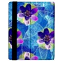 Purple Flowers Samsung Galaxy Tab 10.1  P7500 Flip Case View2