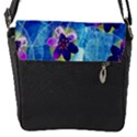Purple Flowers Flap Messenger Bag (S) View1