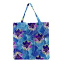 Purple Flowers Grocery Tote Bag View1